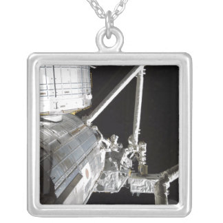 The robotic arm of the Japanese Experiment Modu 2 Square Pendant Necklace