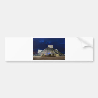 The Rock and Roll Hall of Fame at Dusk Bumper Sticker