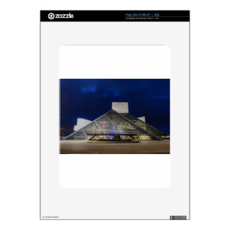 The Rock and Roll Hall of Fame at Dusk iPad Decals