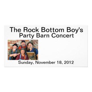 The Rock Bottom Boy's Party Barn Concert Post Card Custom Photo Card