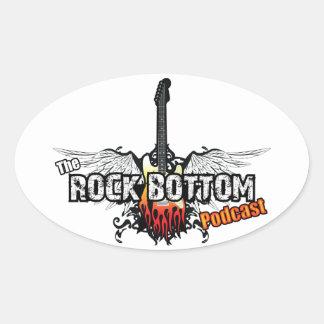 The Rock Bottom Podcast (Sticker) (New Logo) Oval Sticker