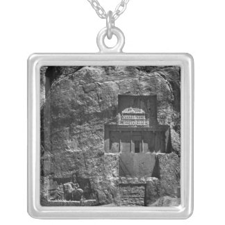 The rock-cut tomb of Artaxerxes I Silver Plated Necklace