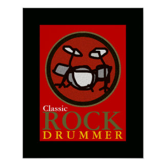 the rock drummer poster