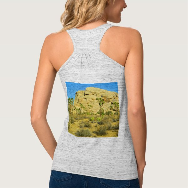 The Rock Formation And Joshua Trees Flowy Racerback Tank Top