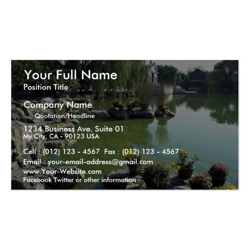"""The rock garden of """"The Dream of Red Chambers"""", Be Business Card Template"""
