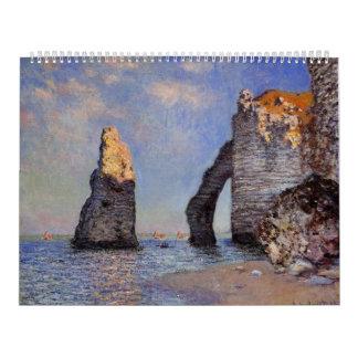 The Rock Needle and the Porte d'Aval - C. Monet Calendar