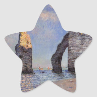 The Rock Needle and the Porte d'Aval - C. Monet Stickers