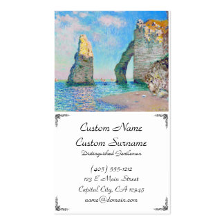 The Rock Needle and the Porte d'Aval Claude Monet Business Card