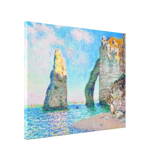The Rock Needle and the Porte d'Aval Claude Monet Canvas Print