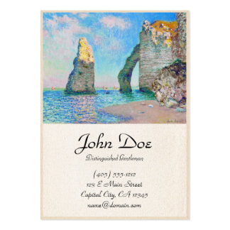 The Rock Needle and the Porte d'Aval Claude Monet Large Business Card