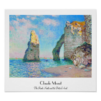 The Rock Needle and the Porte d'Aval Claude Monet Poster