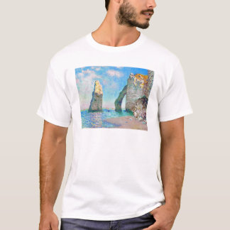 The Rock Needle and the Porte d'Aval Claude Monet T-Shirt