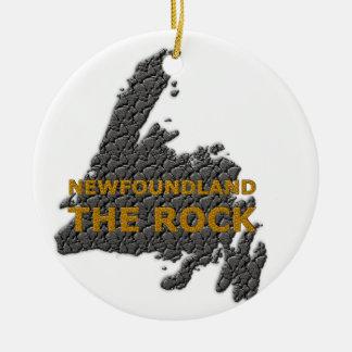 THE ROCK NEWFOUNDLAND CERAMIC ORNAMENT