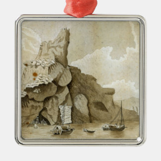The Rock of Quang-Yin Square Metal Christmas Ornament