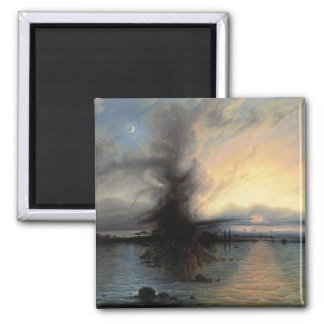 The Rock of Salvation, 1837 (oil on canvas) 2 Inch Square Magnet