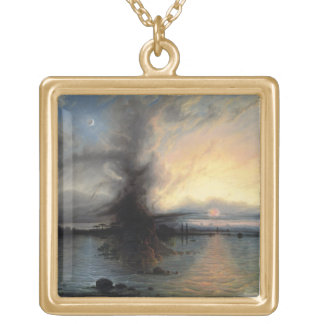 The Rock of Salvation, 1837 (oil on canvas) Gold Plated Necklace