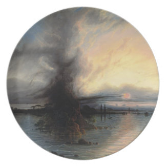 The Rock of Salvation, 1837 (oil on canvas) Melamine Plate