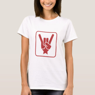 The Rock Sign Red Square T-Shirt