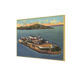 """The Rock,"" View of Alcatraz Island Canvas Print"