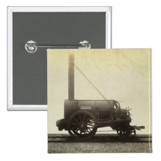 The 'Rocket' designed by George Stephenson (1781-1 2 Inch Square Button