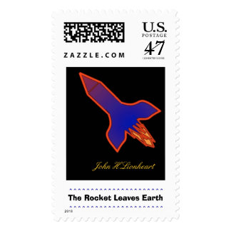 The Rocket Leaves Earth Postage