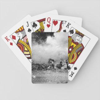 The Rockets Red Glare - U.S. Marines _War Image Poker Cards
