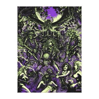 The Rockin' Dead Skeleton Zombies Canvas Print