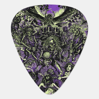 The Rockin' Dead Skeleton Zombies Guitar Pick
