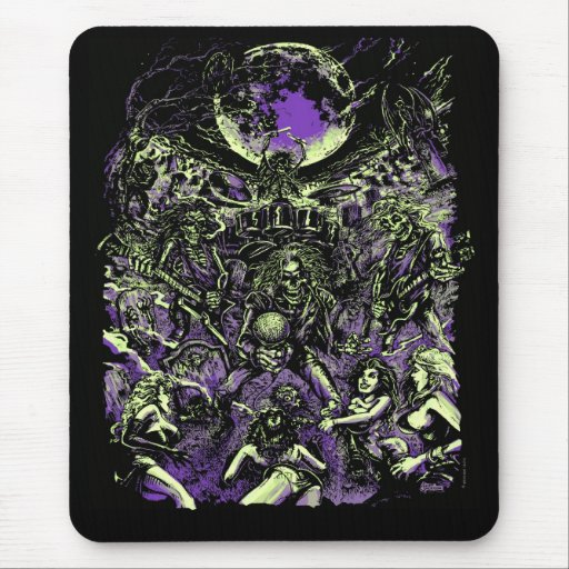The Rockin' Dead Skeleton Zombies Mouse Pad