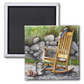 The Rocking Chair 2 Inch Square Magnet