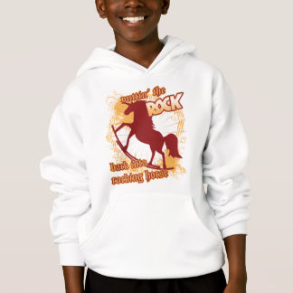 The ROCKING Horse - with text! Hoodie