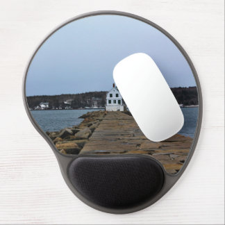 The Rockland Breakwater Lighthouse II Gel Mouse Pad