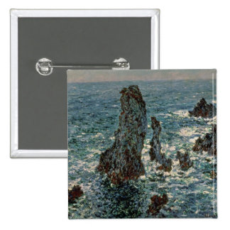 The Rocks at Belle-Ile, 1886 2 Inch Square Button