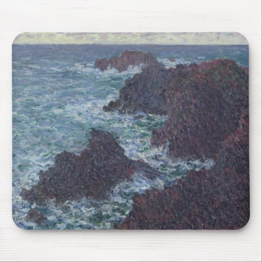 The Rocks at Belle-Ile, the Wild Coast, 1886 Mouse Pad
