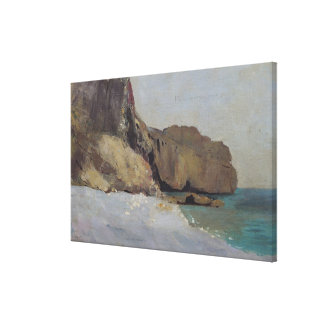 The Rocks at Vallieres, near Royan Canvas Print