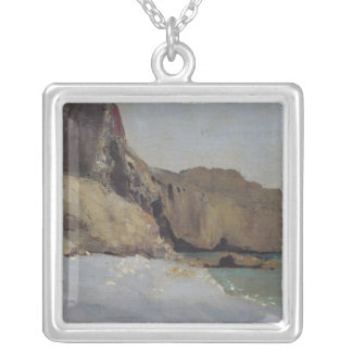 The Rocks at Vallieres, near Royan Silver Plated Necklace