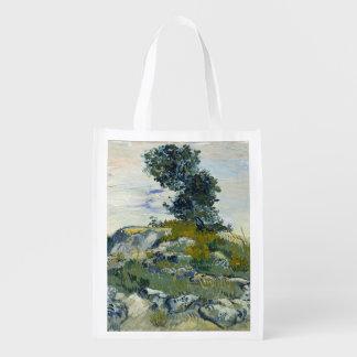 The Rocks by Vincent Van Gogh Grocery Bag