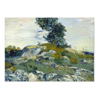 "The Rocks by Vincent Van Gogh 5"" X 7"" Invitation Card"