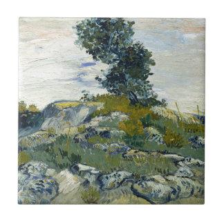 The Rocks by Vincent Van Gogh Tiles