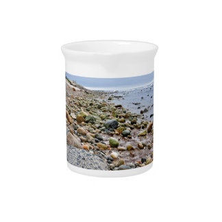 The Rocky Beaches of Montauk, Long Island, NY Beverage Pitcher