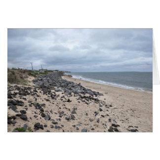 The Rocky Beaches of Montauk, Long Island, NY Card