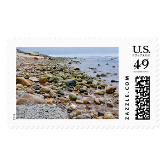 The Rocky Beaches of Montauk, Long Island, NY Stamp