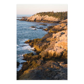 The rocky coast of Isle au Haut in Maine's Photo Print
