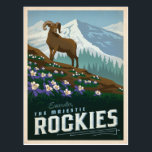 "The Rocky Mountains | Colorado Postcard<br><div class=""desc"">Anderson Design Group is an award-winning illustration and design firm in Nashville,  Tennessee. Founder Joel Anderson directs a team of talented artists to create original poster art that looks like classic vintage advertising prints from the 1920s to the 1960s.</div>"