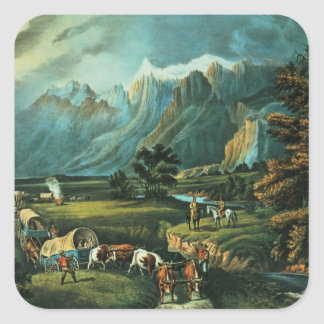 The Rocky Mountains Square Sticker