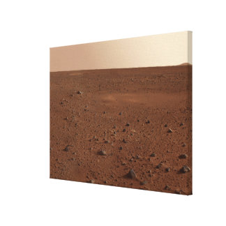 The rocky surface of Mars Canvas Prints