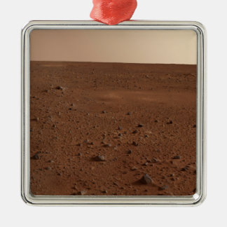 The rocky surface of Mars Metal Ornament