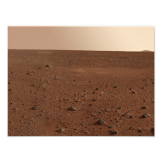 The rocky surface of Mars Photograph