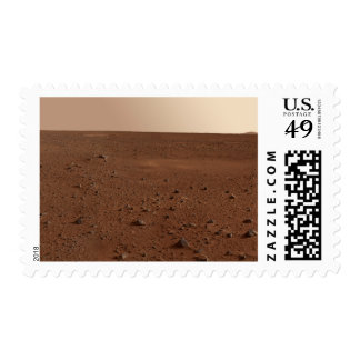 The rocky surface of Mars Postage
