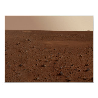 The rocky surface of Mars Print